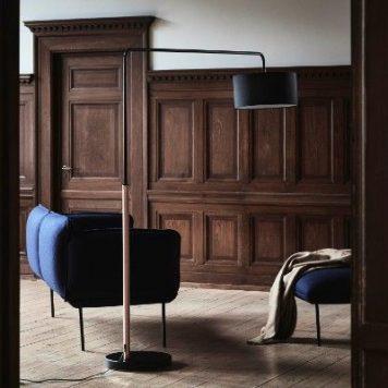Shower Mega  Lampa podłogowa – Styl nowoczesny – kolor miedź, Czarny