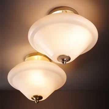 Sicily Lampa sufitowa – szklane – kolor biały, srebrny