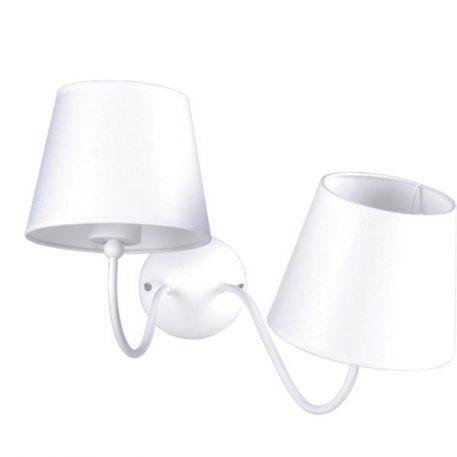 Siena Lampa nowoczesna – Z abażurem – kolor biały