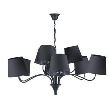 Siena  Żyrandol – Styl nowoczesny – kolor Czarny