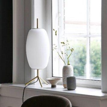 Silk  Lampa skandynawska – Styl skandynawski – kolor biały, złoty