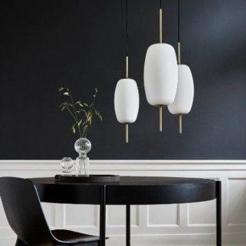 Silk  Lampa wisząca – Styl skandynawski – kolor biały, złoty