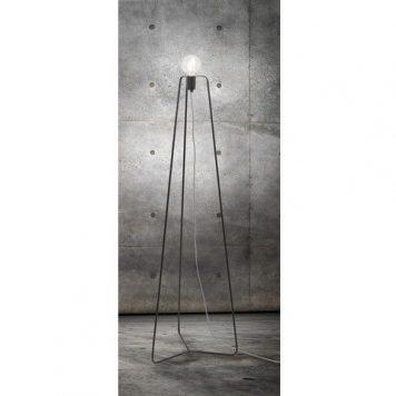Simple  Lampa podłogowa – industrialny – kolor Czarny