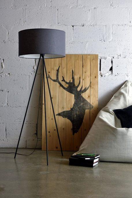 Simple  Lampa skandynawska – Styl nowoczesny – kolor Szary