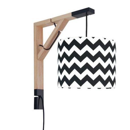 Simple  Lampa skandynawska – Styl skandynawski – kolor biały, Czarny