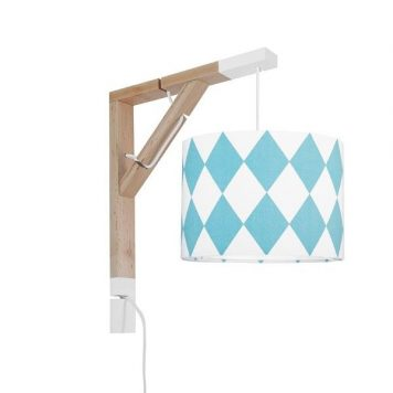 Simple Lampa skandynawska – Styl skandynawski – kolor biały, Niebieski