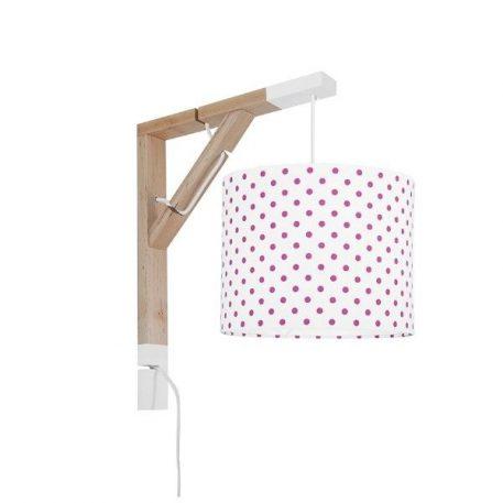 Simple  Lampa skandynawska – Styl skandynawski – kolor biały, różowy