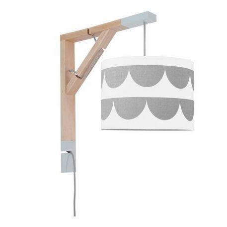 Simple Lampa skandynawska – Styl skandynawski – kolor biały, Szary