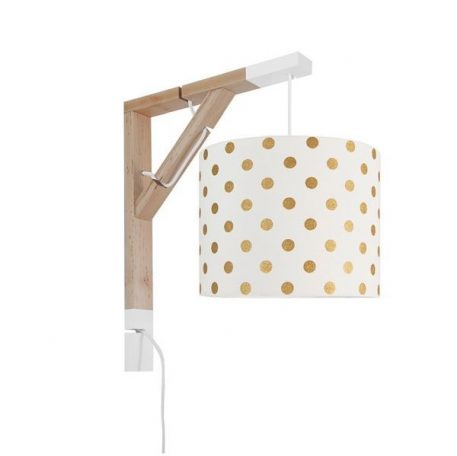 Simple Lampa skandynawska – Styl skandynawski – kolor biały, złoty