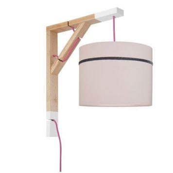 Simple Lampa skandynawska – Styl skandynawski – kolor różowy