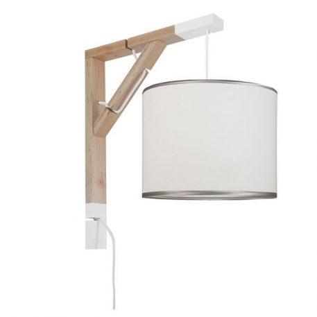 Simple Lampa skandynawska – Z abażurem – kolor biały