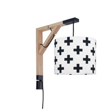 Simple Lampa skandynawska – Z abażurem – kolor biały, Czarny