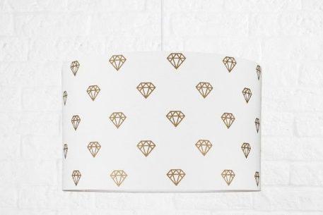 Simple Lampa skandynawska – Z abażurem – kolor biały, złoty