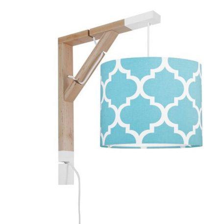 Simple  Lampa skandynawska – Z abażurem – kolor Niebieski