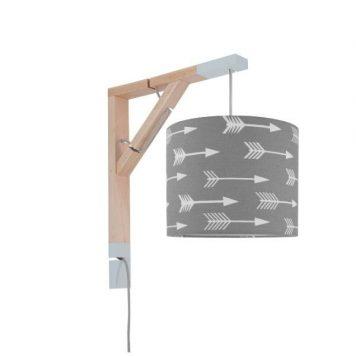 Simple Lampa skandynawska – Z abażurem – kolor Szary