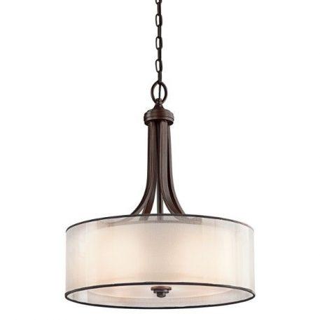 Simple Lampa wisząca – Z abażurem – kolor beżowy, brązowy