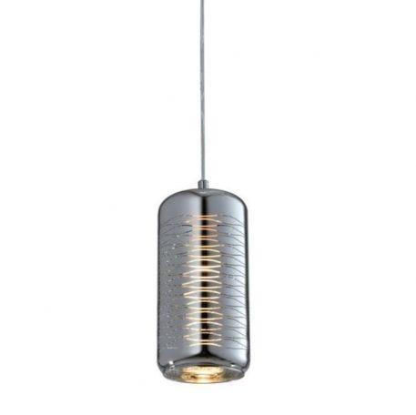 Sina Lampa wisząca – szklane – kolor srebrny