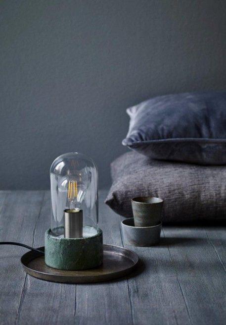 Siv  Lampa stołowa – Styl nowoczesny – kolor transparentny, Zielony