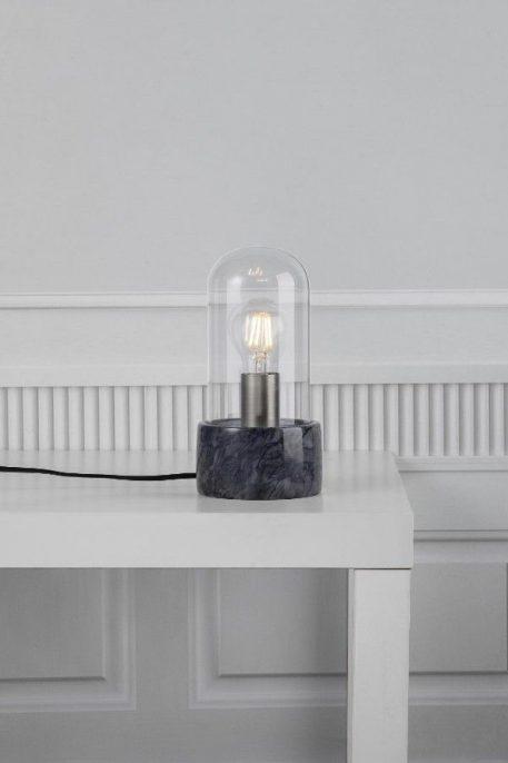 Siv  Lampa stołowa – szklane – kolor transparentny, Czarny, Szary
