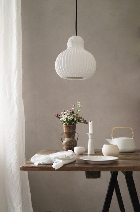 Snowbell Lampa wisząca – Styl skandynawski – kolor biały