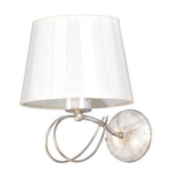 Sofia  Lampa klasyczna – Z abażurem – kolor beżowy, biały, złoty