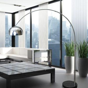 Soho Lampa podłogowa – Do czytania – kolor srebrny