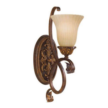 Sonoma Lampa klasyczna – szklane – kolor beżowy, brązowy