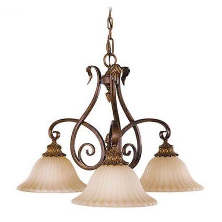 Sonoma Żyrandol – klasyczny – kolor beżowy, brązowy