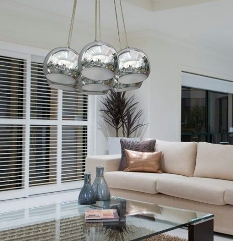 Spheres Lampa wisząca – Styl nowoczesny – kolor srebrny