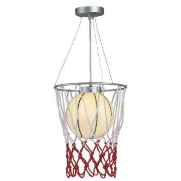 Sport Lampa wisząca – Styl nowoczesny – kolor biały, srebrny, Czerwony