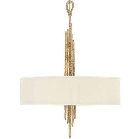 Spyre Lampa wisząca – Z abażurem – kolor beżowy, złoty