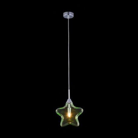 Star  Lampa wisząca – Styl nowoczesny – kolor transparentny, Zielony