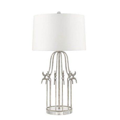 Stela Lampa klasyczna – klasyczny – kolor biały, srebrny