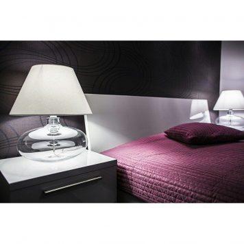 Stockholm  Lampa nowoczesna – Z abażurem – kolor transparentny, Czarny