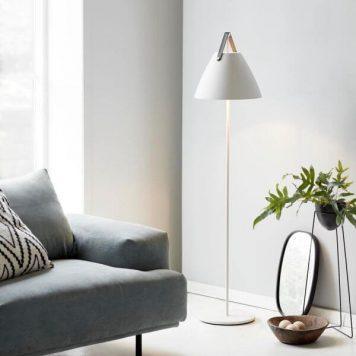 Strap Lampa podłogowa – Styl skandynawski – kolor biały