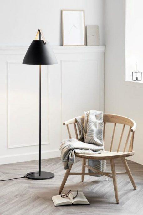 Strap  Lampa podłogowa – Styl skandynawski – kolor Czarny