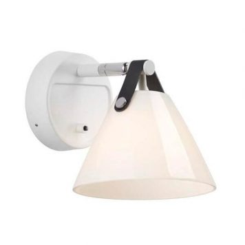 Strap Lampa skandynawska – szklane – kolor biały, połysk