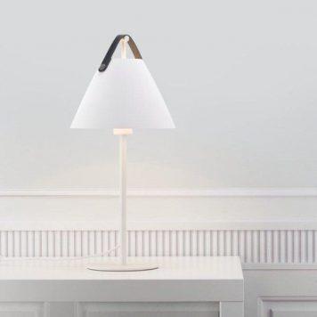 Strap  Lampa stołowa – Styl skandynawski – kolor biały