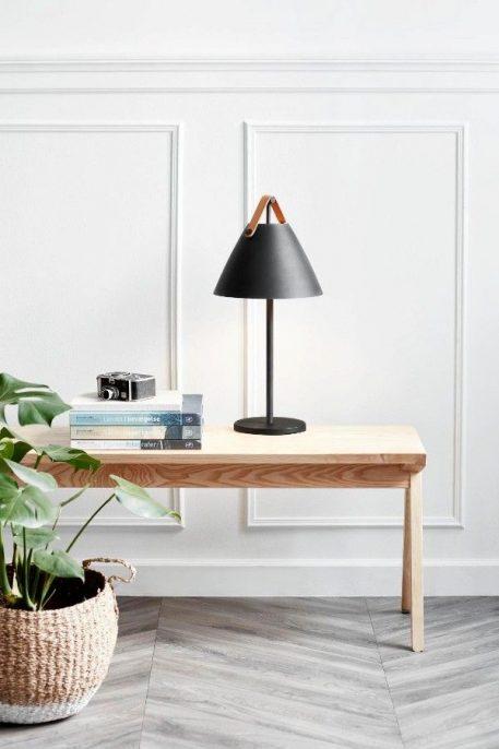 Strap  Lampa stołowa – Styl skandynawski – kolor Czarny