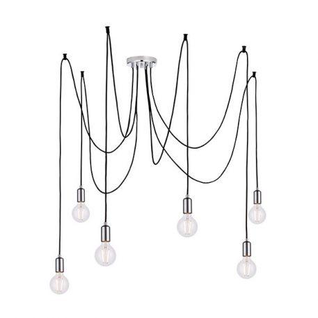 Studio Żyrandol – Styl nowoczesny – kolor srebrny, Czarny
