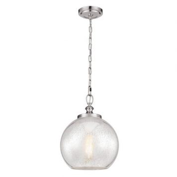 Tabby Lampa wisząca – szklane – kolor srebrny, transparentny