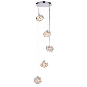 Talia  Lampa wisząca – Styl glamour – kolor srebrny, transparentny