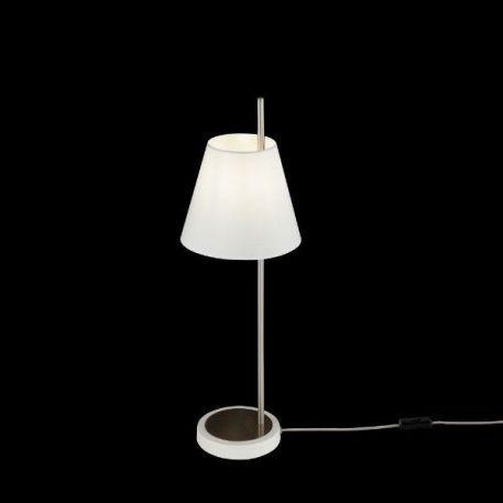 Tarrasa  Lampa stołowa – Styl nowoczesny – kolor biały, srebrny