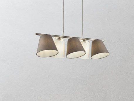 Tarrasa  Lampa wisząca – Z abażurem – kolor biały, srebrny, Szary
