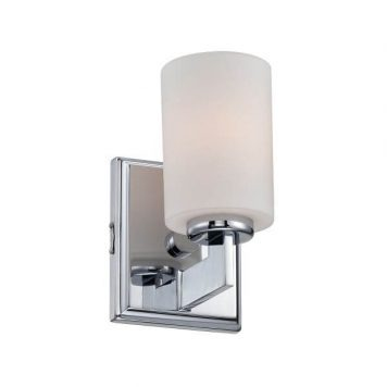 Taylor Kinkiet – szklane – kolor biały, srebrny