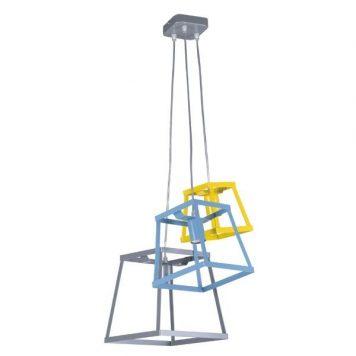 Tedy Lampa wisząca – Styl nowoczesny – kolor żółty, Niebieski, Szary