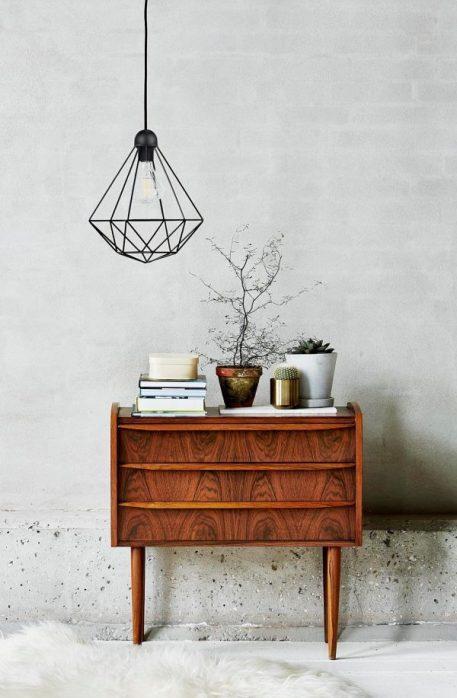 Tees Lampa wisząca – Styl skandynawski – kolor Czarny
