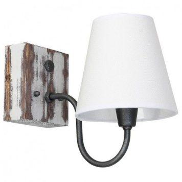 Thor  Lampa klasyczna – Z abażurem – kolor biały, Szary