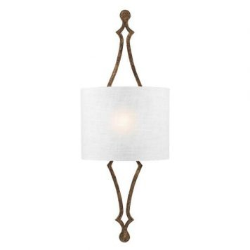 Tilling Lampa klasyczna – Z abażurem – kolor biały, złoty
