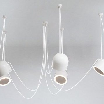 Tippy  Żyrandol – Styl nowoczesny – kolor biały